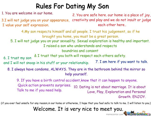 rules on dating my son 10 rules for dating my soncomposed by a concerned mothera must read by all ladies lmao source:wwwiyandasdiarycom.