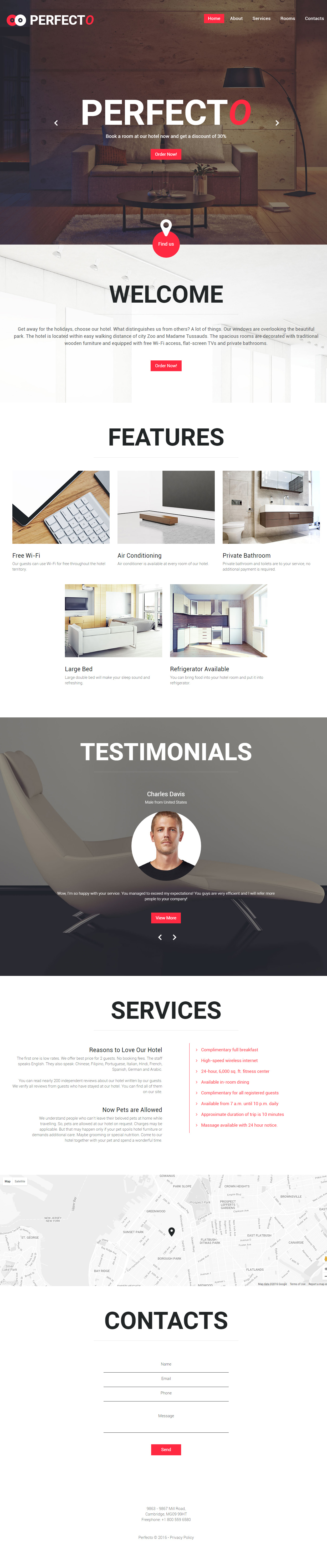 Perfecto is Premium full Responsive Parallax #HTML5template ...