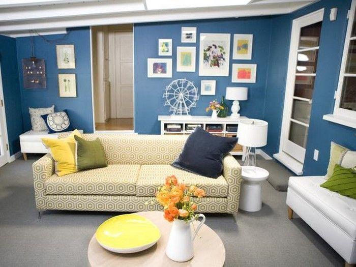 Wohnzimmer Farblich Gestalten Blau Eine Verblüffende Gestaltung