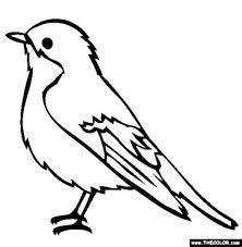 Coloring Pages Blue Bird Bird Coloring Pages Bird Outline Bird Drawings