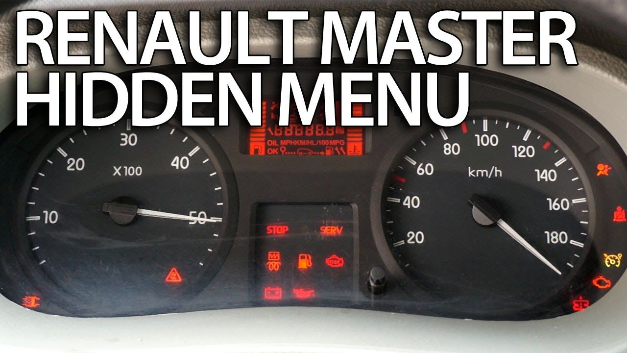 How to enter hidden menu in #Renault #Master #service test