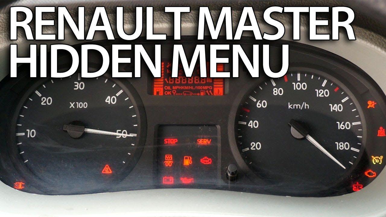 renault trafic under bonnet fuse box wiring libraryhow to enter hidden menu in renault master service [ 1280 x 720 Pixel ]