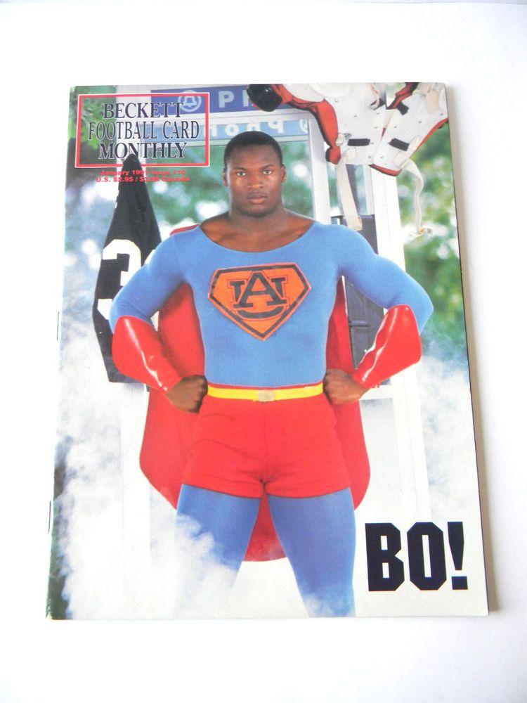 Bo jackson beckett football card monthly january 1991
