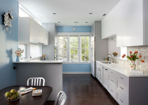 New Kitchen Contemporary Kitchen Pale Grey Kitchen Cabinets And - Pale grey kitchen walls