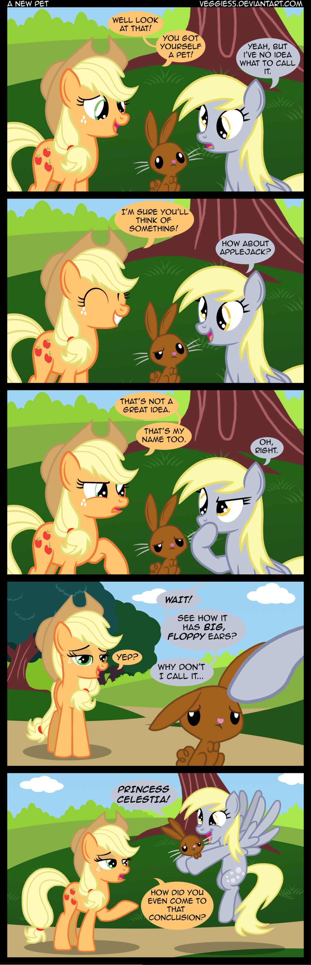 Derpy and Applejack