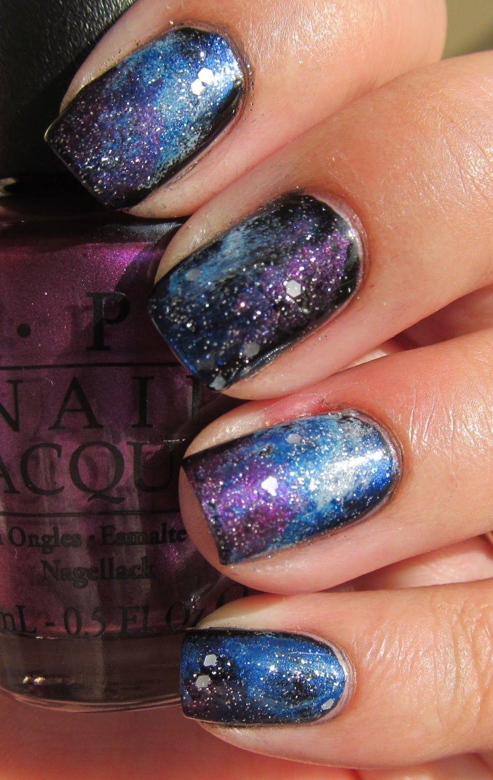 Handtastic Intentions Nail Art Galaxy Nails Purple Is Suzi The