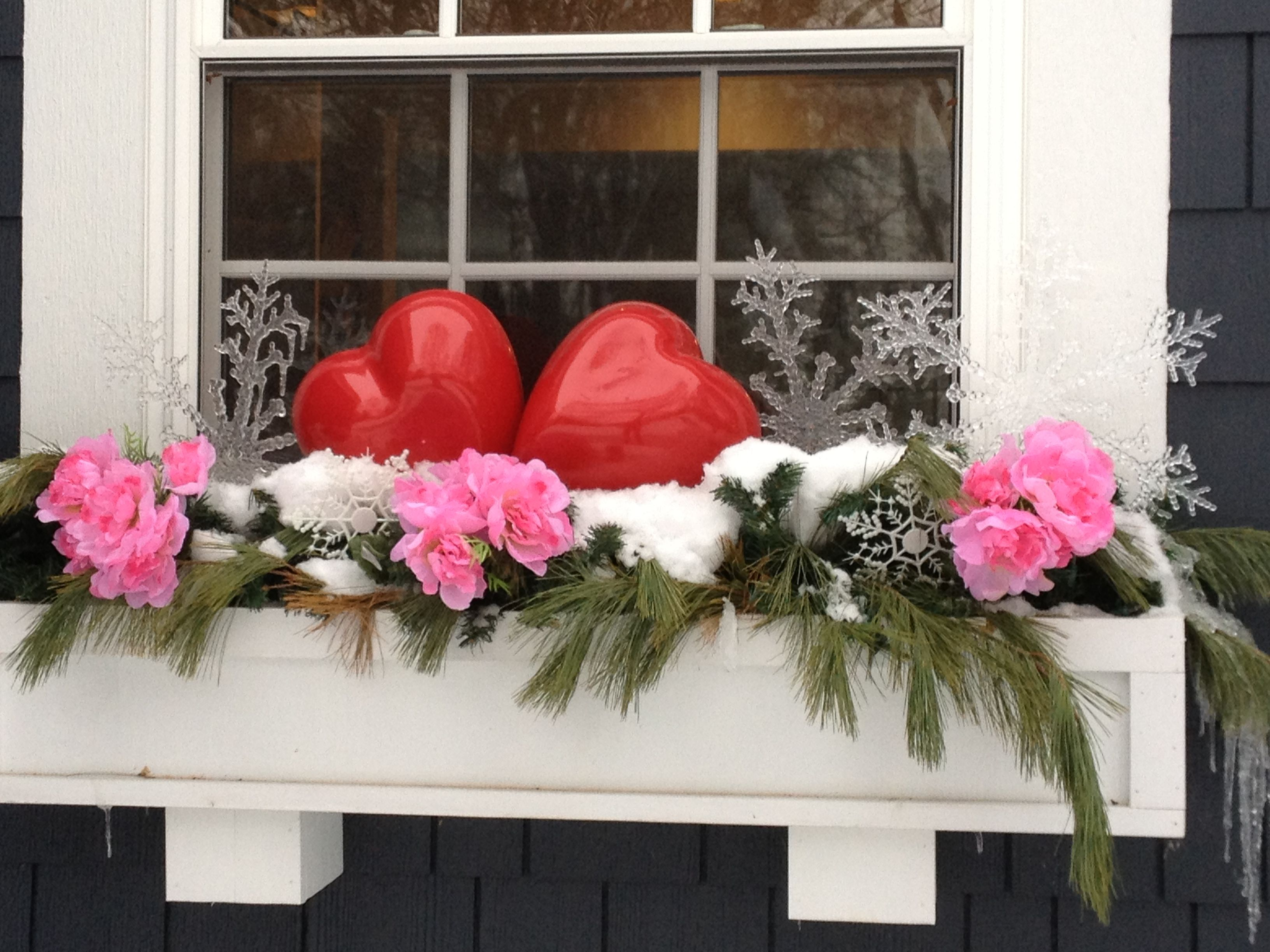 Valentine s Day window box Window Boxes Pinterest