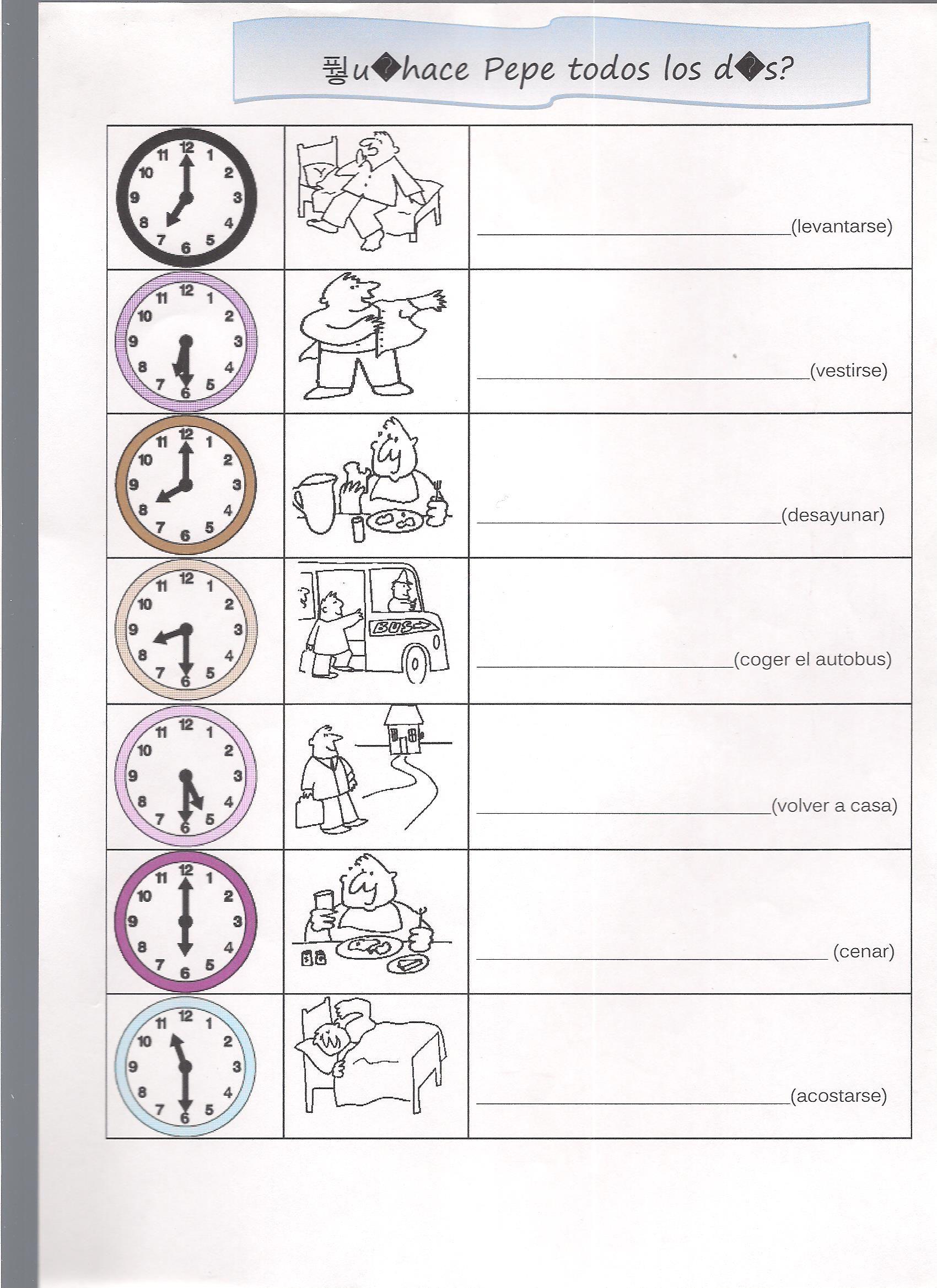 Rutina en frances con horas