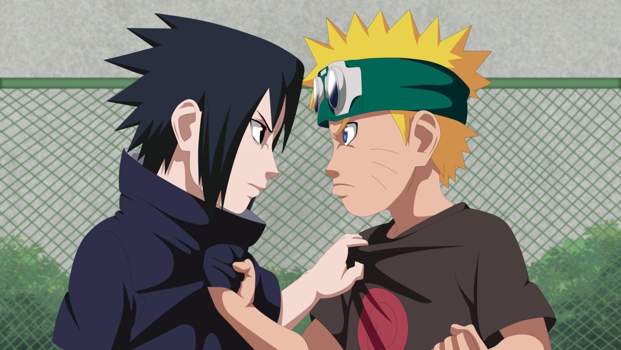 Uzumaki Naruto And Uchiha Sasuke Naruto Anime Boy Sasuke Ninja Manga Shinobi Naruto Shippuden Naruto Vs Sasuke Arte De Naruto Fotos De Naruto Shippuden