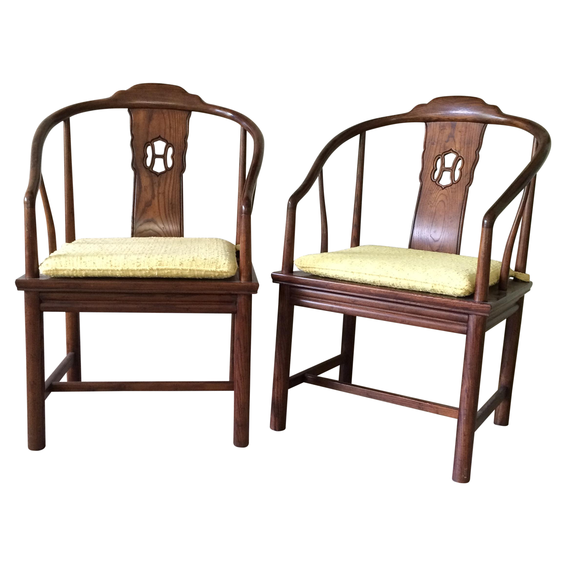 Henredon Horseshoe Back Chairs Pair For The Home Pinterest Chair Sofa Chair And Living