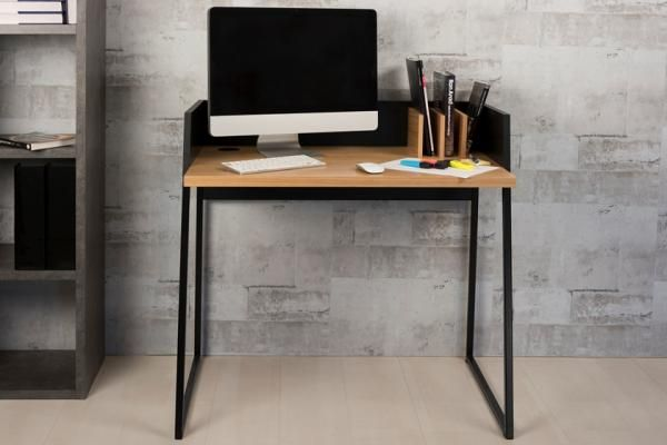 compact office furniture small spaces. Interesting Office Temahome Volga Modern Study Desk In Black And Oak Veneer Finish For Compact Office Furniture Small Spaces F
