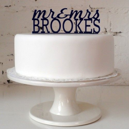 Navy Blue Wedding Cake Toppers Mr Mrs The Classic