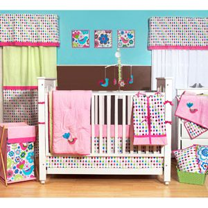 Bacati Botanical Pink Multi 10 Piece Nursery In A Bag Crib Bedding Set 100 Cotton Percale Girls Crib Bedding Set With 2 Crib Fitted Sheets Walmart Com Crib Bedding Girl Pink Crib Bedding Bird Nursery