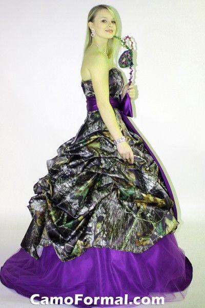 Purple Camo Prom Dresses