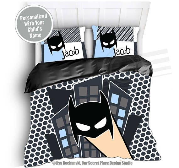 Personalized Boys Bedding For Kids Bedding Comic Book Bedding