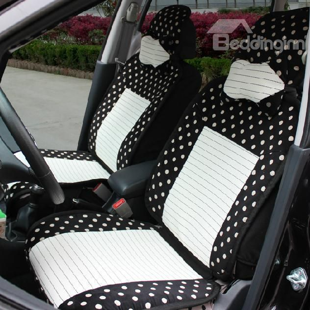 Cute Round Dot Style High Quality Pretty Seat Cover Car