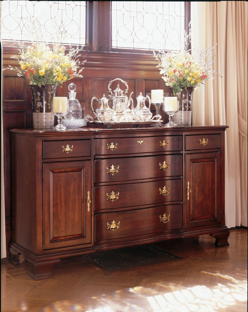 18th Century Queen Anne Dining Room Buffet Reproduction In Cherrywood 68 W X 20 D X 39 H This Piece Is Buffet Furniture Dining Room Buffet Wood Dining Room