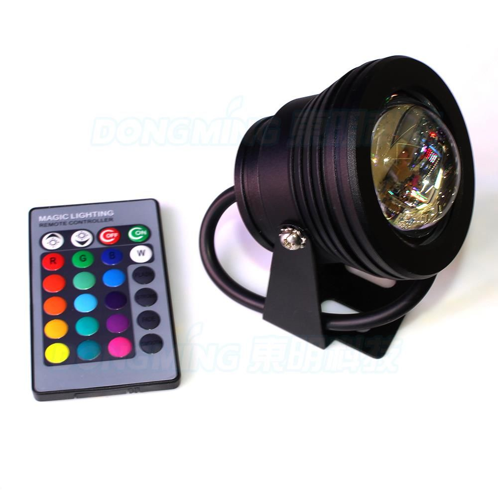 Black cover 10W convex lens underwater led lamp RGB underwater led ...
