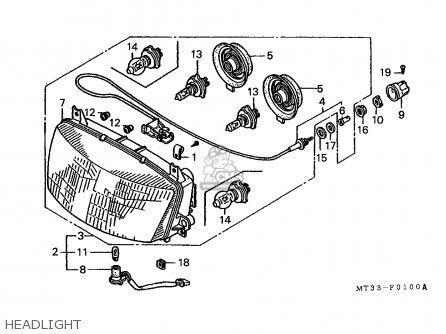 Honda St1100 Pan European 1991 England Mph Parts List Partsmanual Partsfiche Honda England List