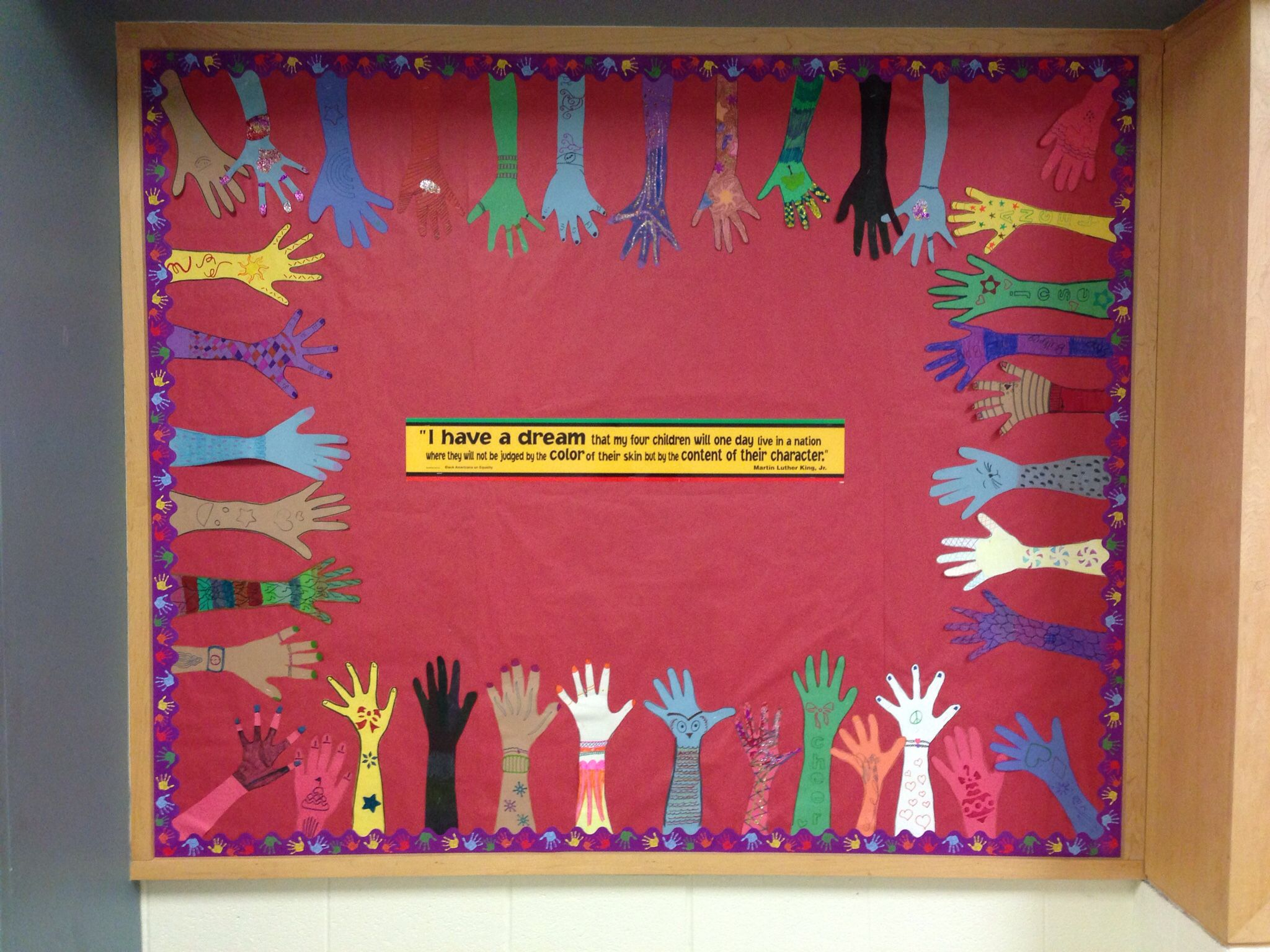 January bulletin board for Martin Luther King Jr day ...