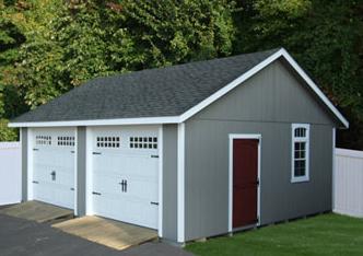 Detached Two Car Garage Separate Garage Doors Entry And Window Prefab Garages Garage Design Garage Plans Detached