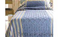 Голубой плед. Схема вязания крючком