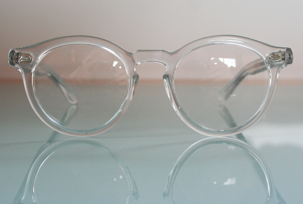 The Old Glasses Shop - Clear Round Vintage Prescription Glasses by Polaroid with Clip On Sunglasses, £89.00 (http://www.theoldglassesshop.co.uk/clear-round-vintage-prescription-glasses-by-polaroid-with-clip-on-sunglasses/)