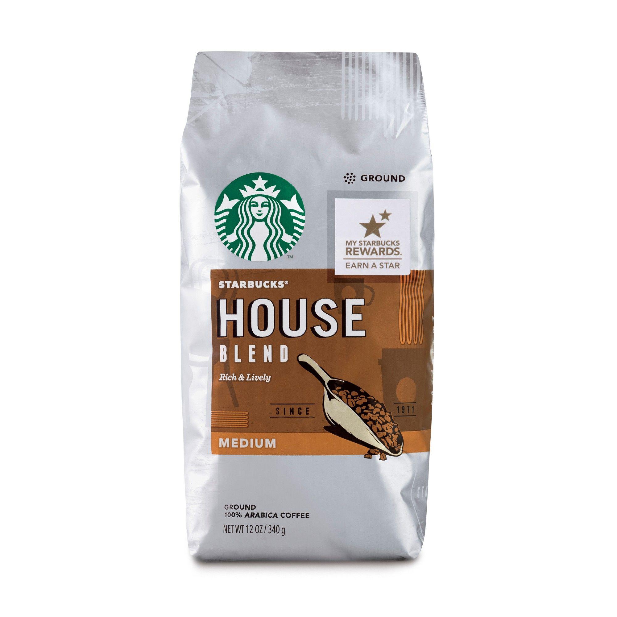 Starbucks House Blend Medium Roast Ground Coffee 12oz