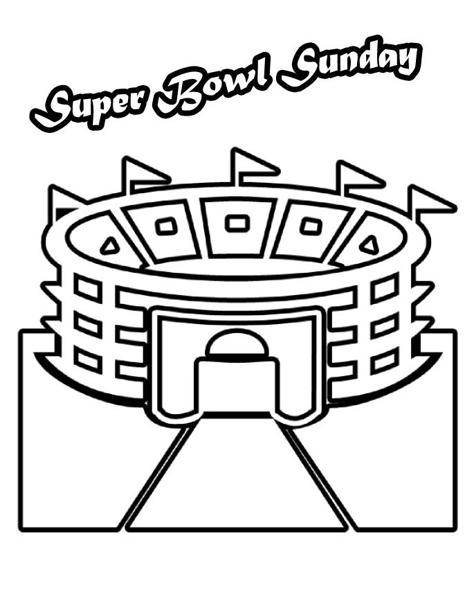 Super Bowl Stadium Arena Coloring Pages | Super Bowl | Pinterest