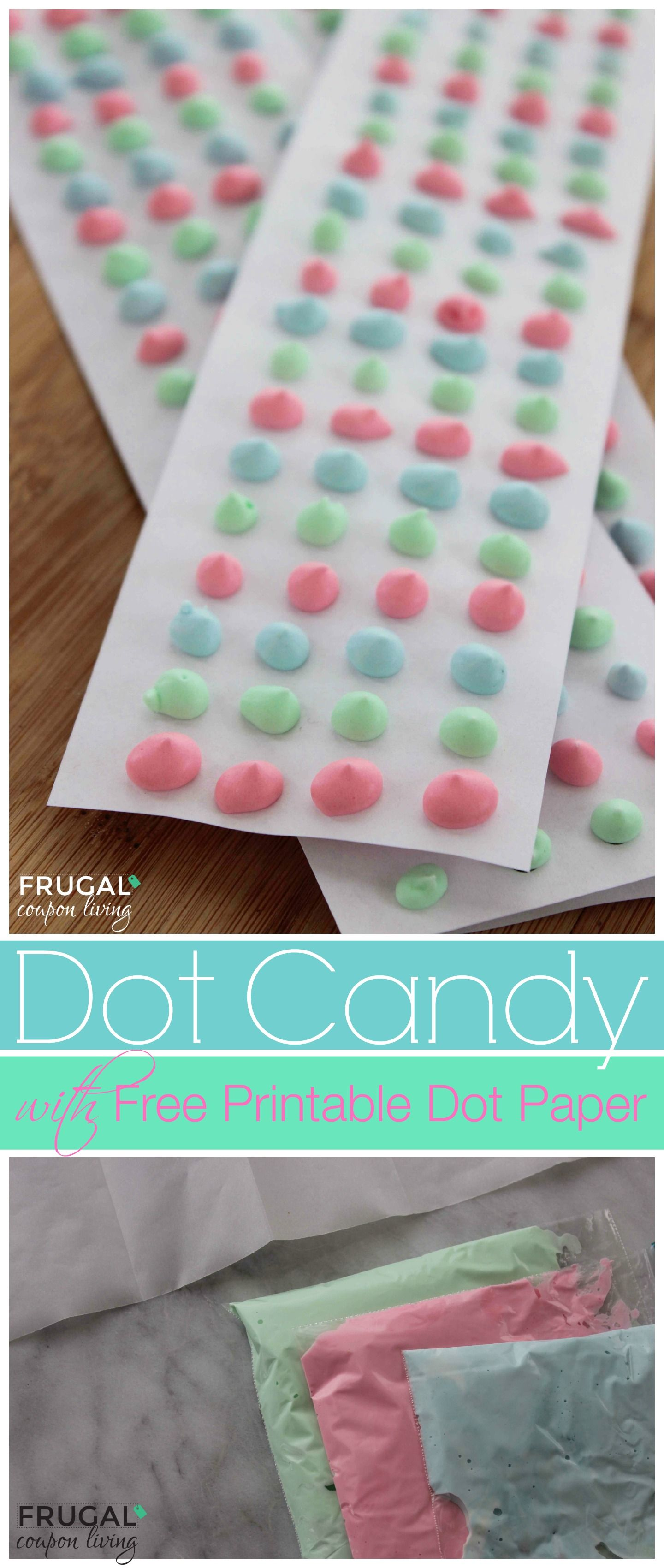 Candy Dot Tutorial And Recipe With Free Dot Paper Template  Dots