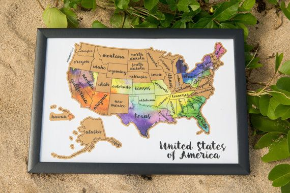 Flash Sale: Scratch Your Travels®USA Map (United States of America