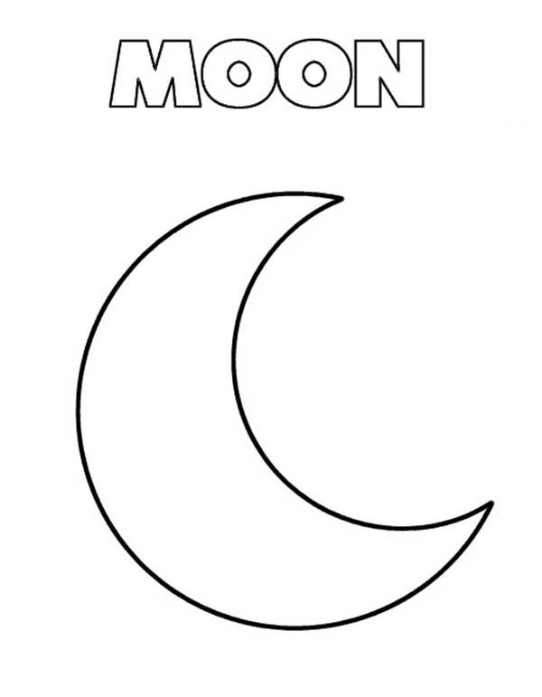 M Is For Moon Coloring Page Coloring Sky Space Coloring Pages Moon Coloring Pages Sun Coloring Pages