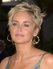 Actress Sharon Stone Attends The Actors Fund S 19th Annual Tony Awards Viewing Party At Skirb Sharon Stone Short Hair Sharon Stone Hairstyles Short Hair Styles