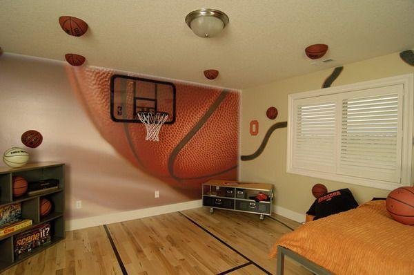 Best Basketball Theme Wall Murals Inspirations Basketball Kids Decor Murals Bedroom Inspirations 400 x 300