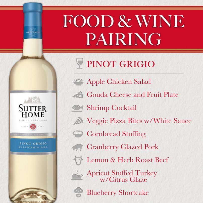 Sutter Home Wine & Food Pairing Series Pinot Grigio for