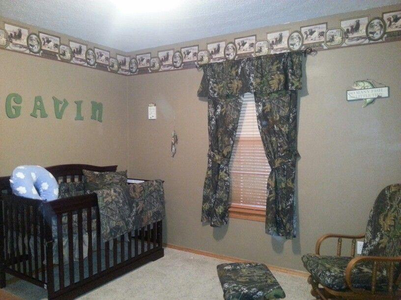 Baby S Room Camo And Fishing Baby Room Baby Boy Rooms Boy Room