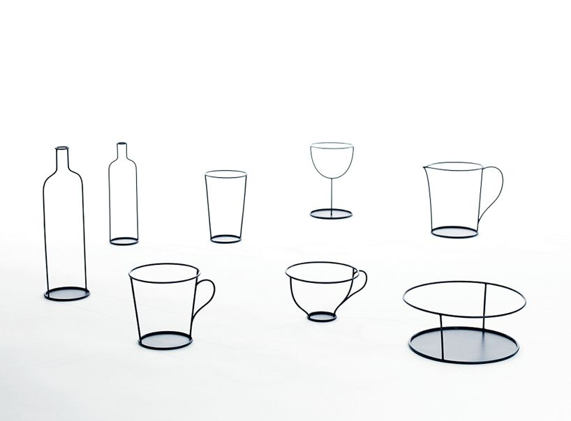 small black vases by nendo for david design at stockholm furniture fair
