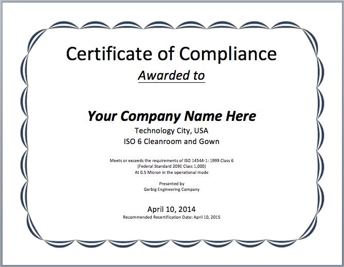 ComplianceCertificateTemplatePng   Herybraddock