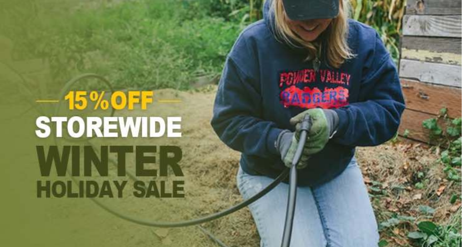 DIY Irrigation Supplies  On Sale Now (Ends Jan. 31st)  15% Off + Free Shipping!