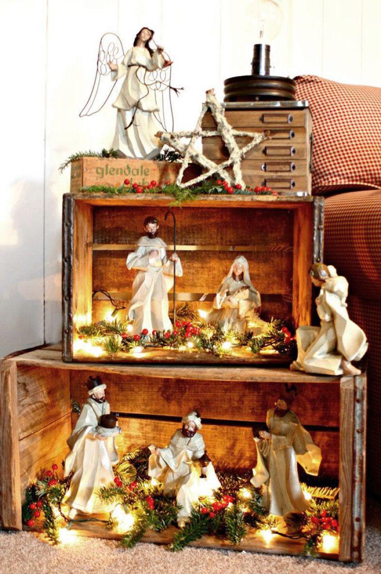 18 pres pios diferentes para decorar o seu cantinho de for Decoracion navidena artesanal