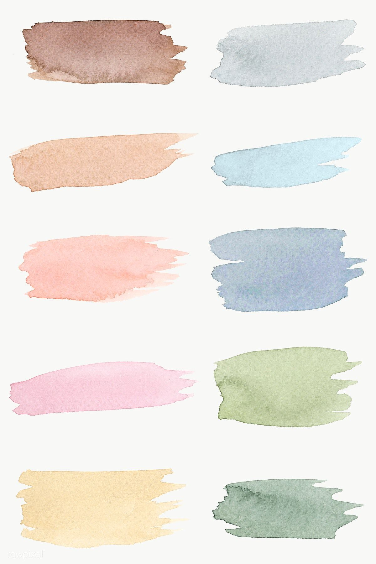 Colorful Watercolor Brush Strokes Transparent Png Free Image By Rawpixel Com Aew Watercolor Splash Png Watercolor Splash Brush Stroke Png