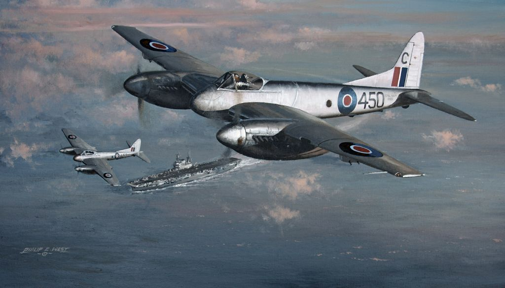 'Sea Hornet Patrol' Beautiful painting by Philip E West