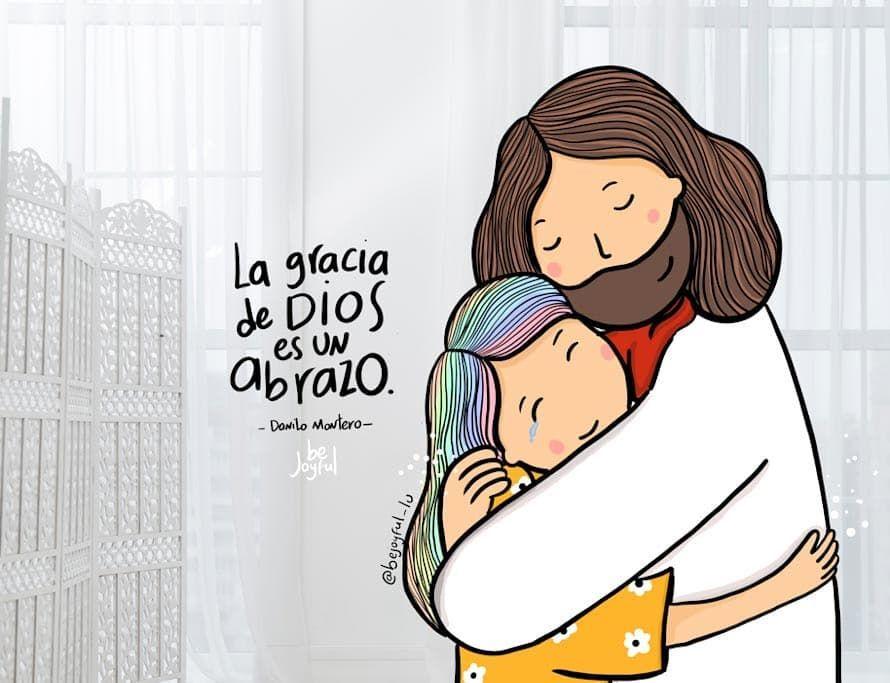 Lu Luisa Ilustraciones En Instagram Su Gracia Es Un Abrazo Constante Sana Todo Calma Todo Renueva T Abrazo De Dios Frases Cristianas Frases De Jovenes