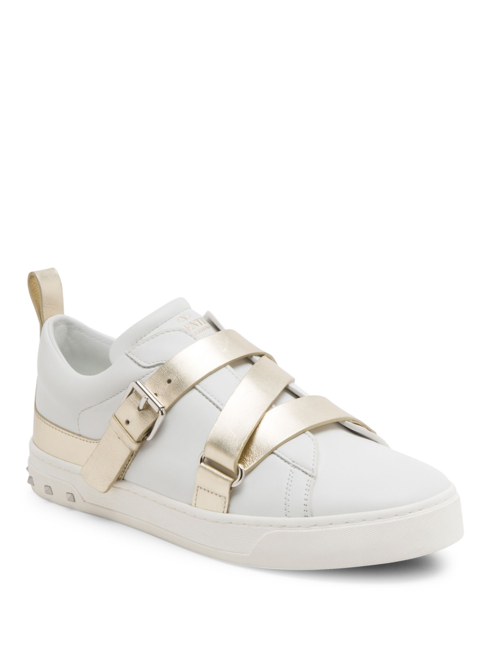 Valentino V-Punk Leather Sneakers | Valentino sneakers, Valentino