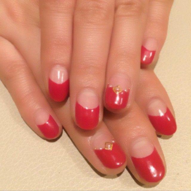 Half moon nail design nails pinterest half moon nail design prinsesfo Choice Image