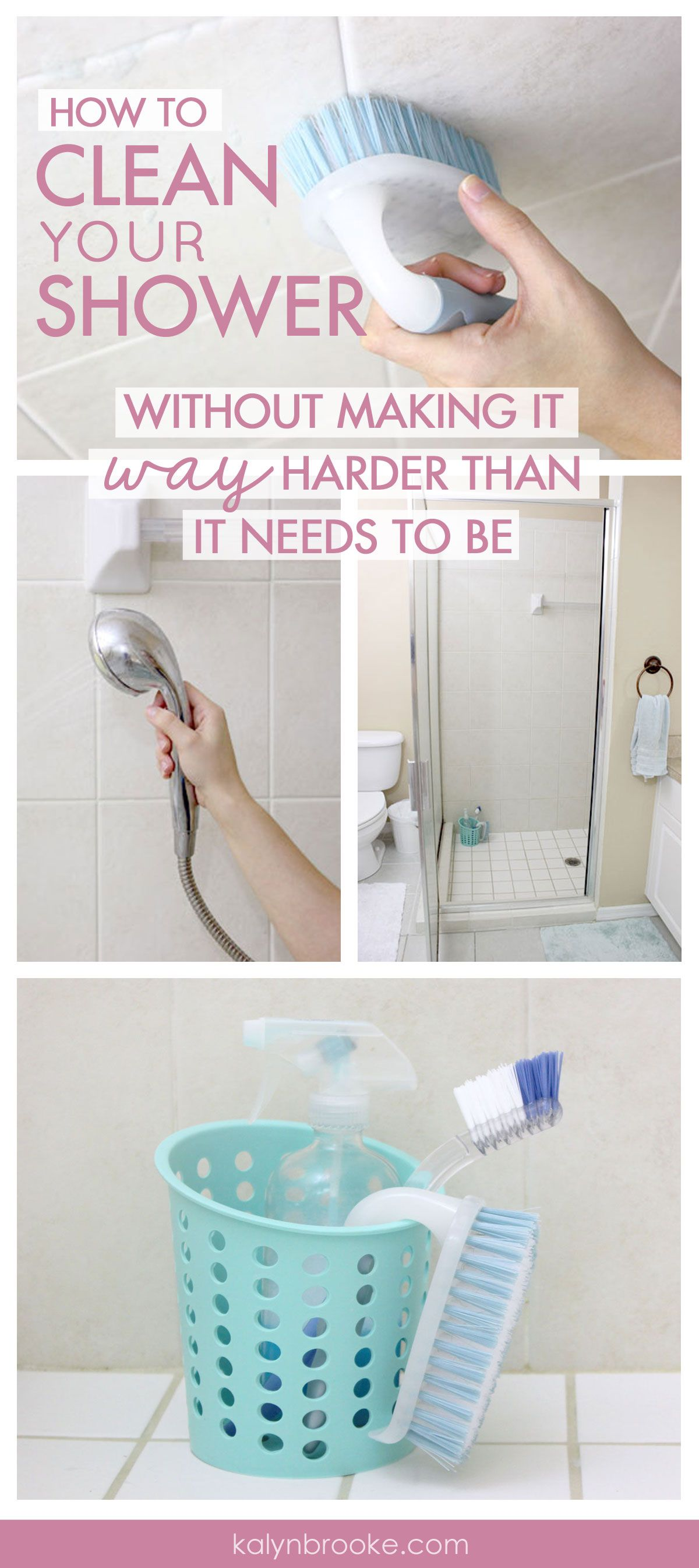 What can you do to make cleaning the shower easier faster and