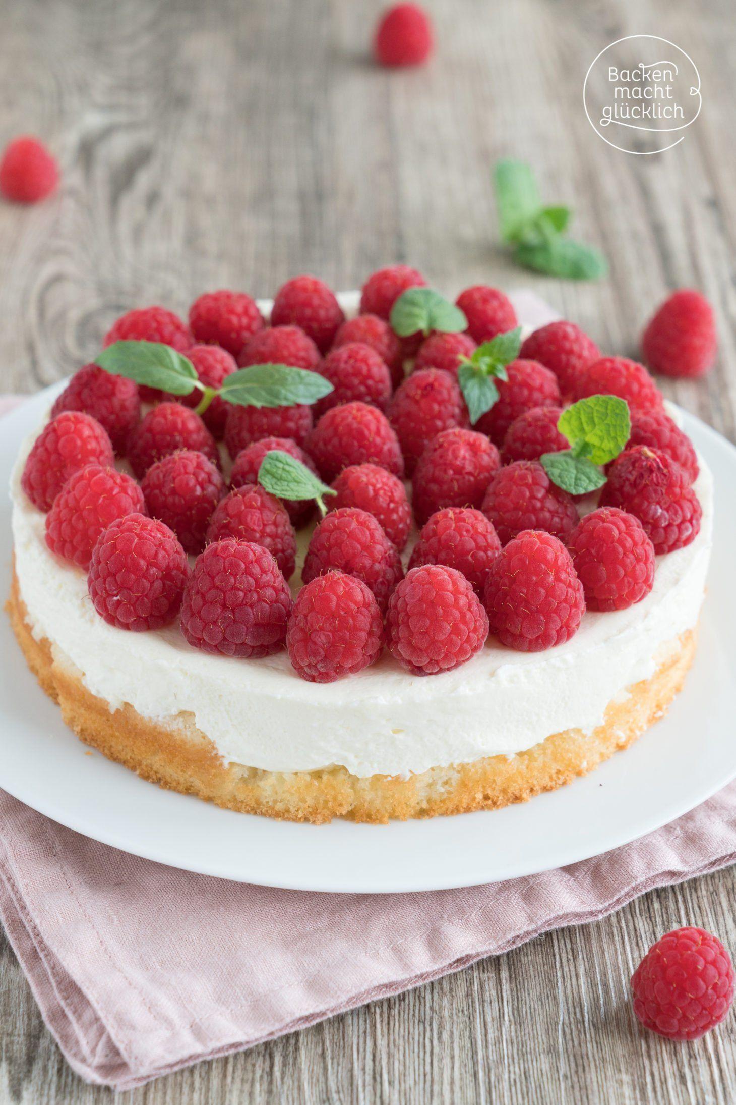 Himbeertorte Mit Schmand Rezept Kuchen Himbeeren Kuchen Und