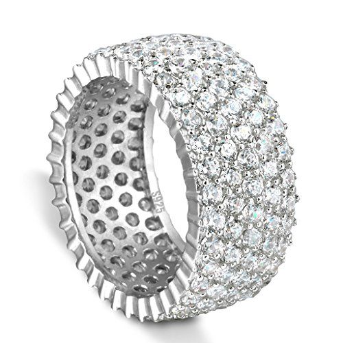 Ever Faith 925 Sterling Silver 5 Reihe Micro Pave CZ Engagement Ring - Größe 57(18.1) N06059-2 Ever Faith http://www.amazon.de/dp/B00YZXSQB8/ref=cm_sw_r_pi_dp_urfUvb1B0D3Z3