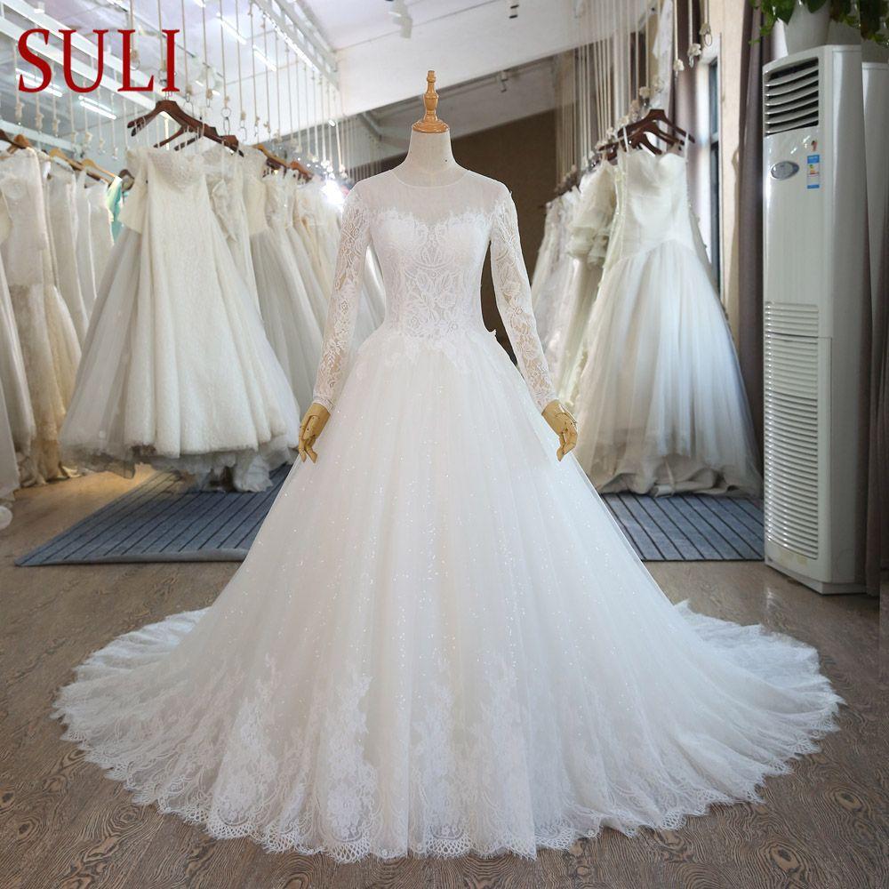 Sl vintage lace long sleeve muslim wedding gowns cheap vestido de