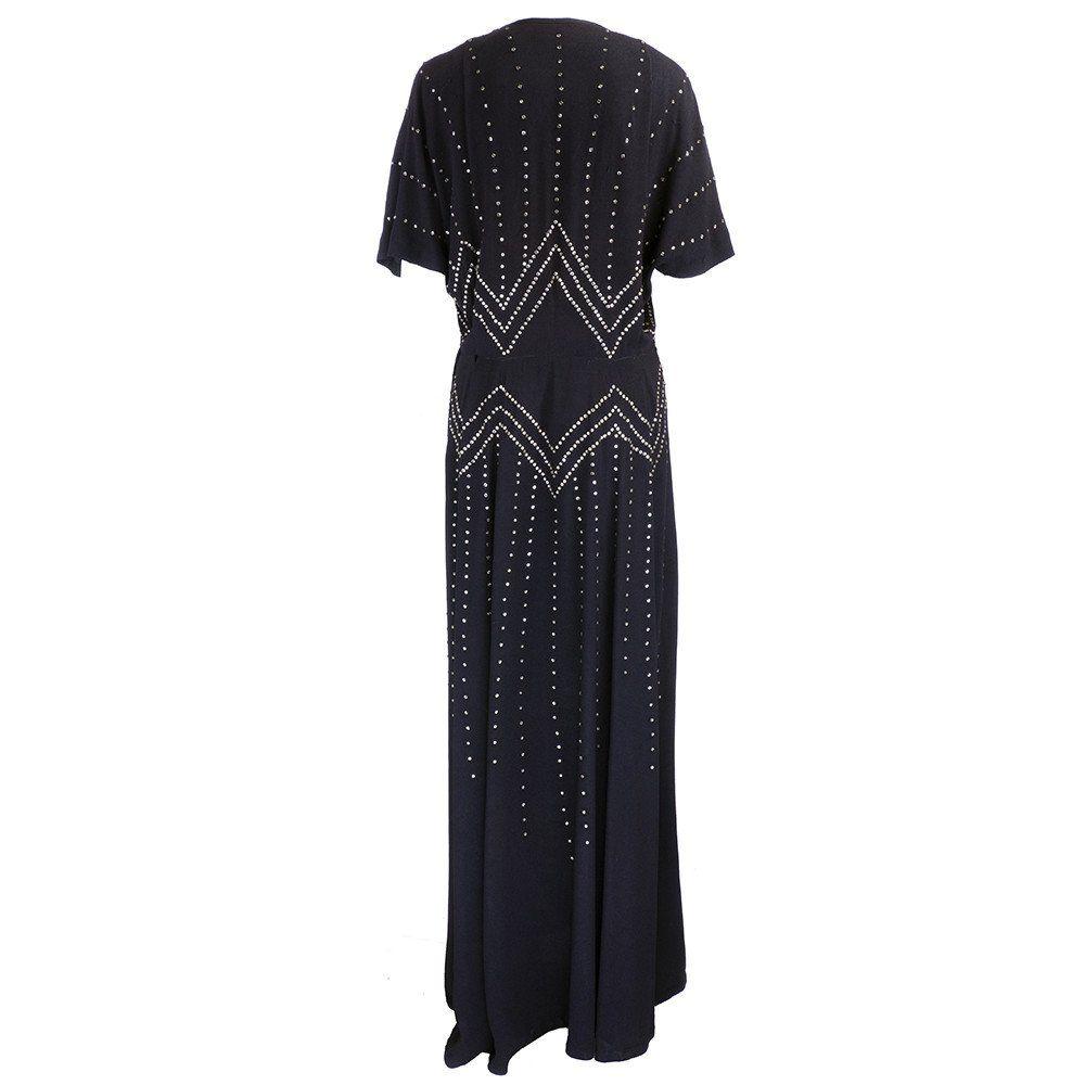Vintage s crepe rhinestone gown u the way we wore dresses to